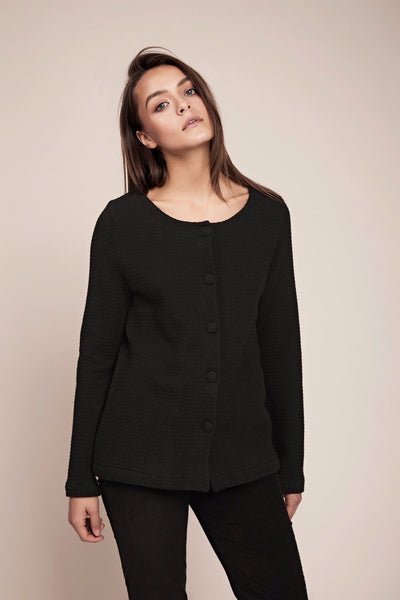 heavy cardigan covered buttons