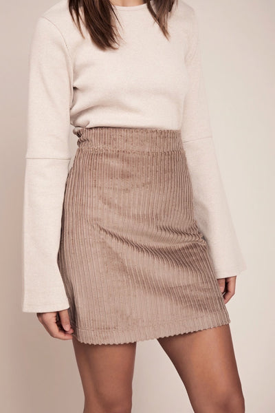 ethical mini corduroy skirt