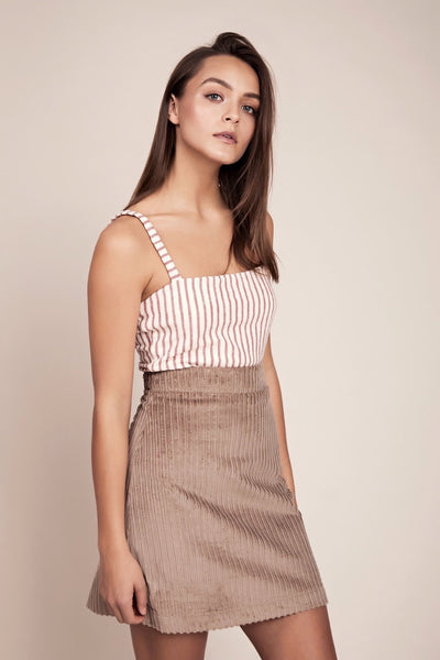 Rose ecru stripe top