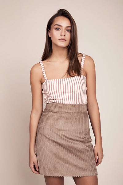 Organic ethical striped top