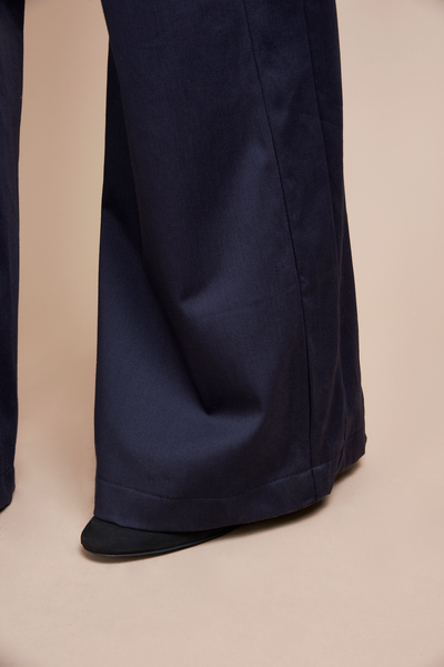 Super Flare Navy Pants