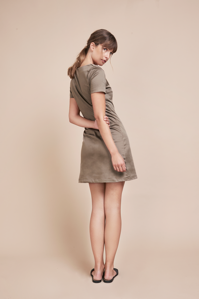 Signe Taupe Dress
