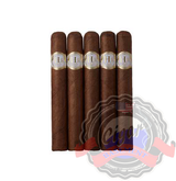 Hirochi Robaina Claro features an Ecuador Habano wrapper which encases a masterful blend of long fillers, giving this cigar a balanced and intricate profile. Order a 5 pack cigar set today at Cigar Basement.