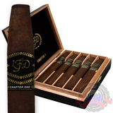 LFD Cigars Chapter 1 is only available in a Chisel shape and utilizes a Connecticut Broadleaf binder and well-aged Dominican filler that are enveloped in dark-brown Brazilian wrappers. Order a box now at Cigar Basement.