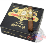 La Galera 1936 box press Chaveta is a medium to full body cigar with a Habano wrapper and a Dominican filler. Notes of fruit, caramel, cocoa and cinnamon and red pepper. Order a box at Cigar Basement.