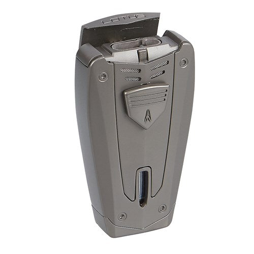 Lotus 67 Fusion Gun Metal Velour Triple Torch Cigar Lighter