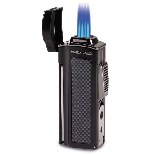 Lotus LBLT200 Black Quad Torch & Punch (table lighter)