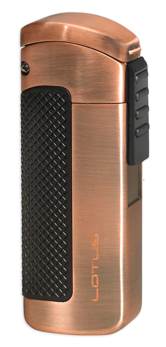 Lotus 66 CEO Black and Copper Satin Triple Torch Lighter