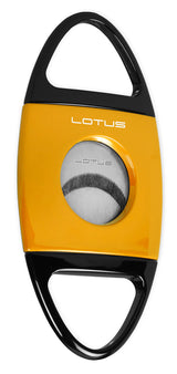 "Lotus Jaws ""Cigar Wrapper"" Yellow and Black Cigar Cutter"