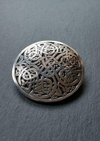 Celtic Brooch, Celtic Jewelry, large brooch, Inspired by The Book of Kells