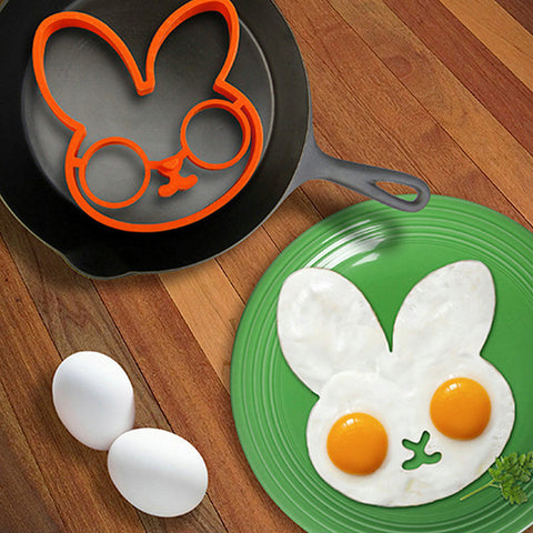Orange Silicone Bunny Cartoon Fry Egg Frame Egg