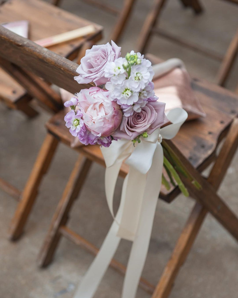 floral aisle seating decor