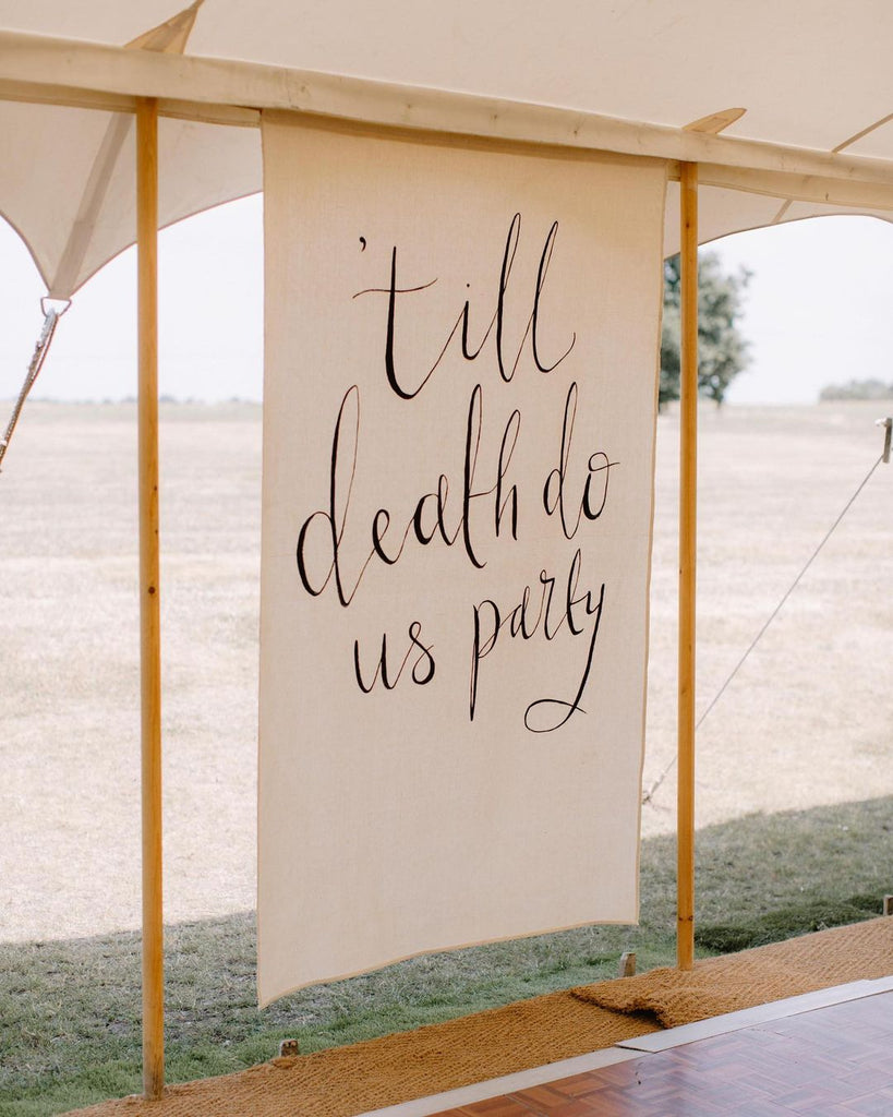 calligraphy wedding tapestry backdrop