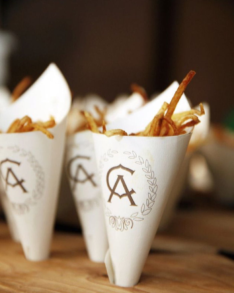 French fries at wedding