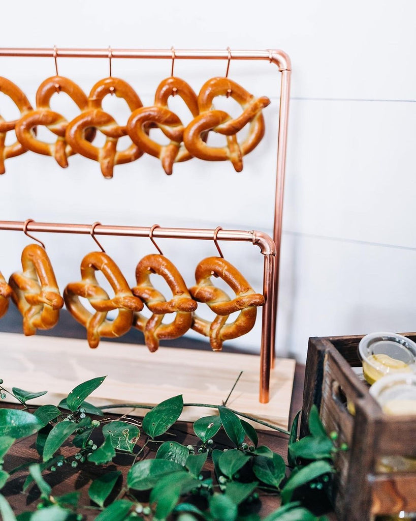 pretzels at wedding