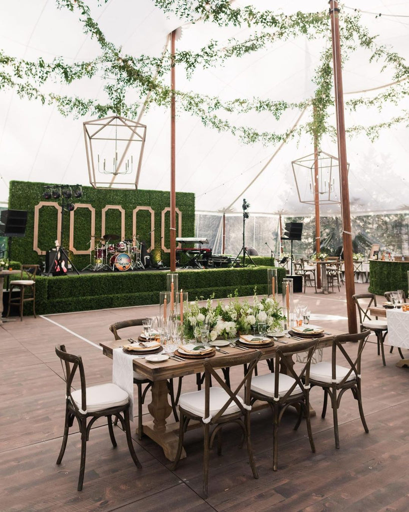 tented wedding tablescape