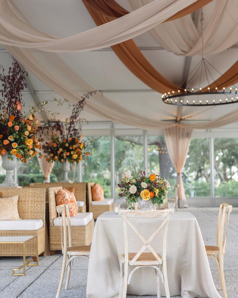 wedding tent lounge areas