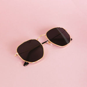 Gold-rimmed Sunglasses