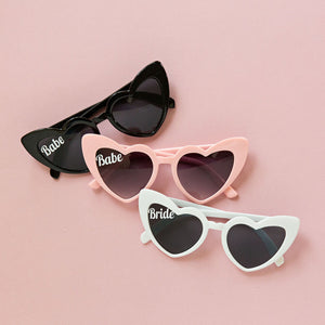 Retro BABE Heart Sunglasses