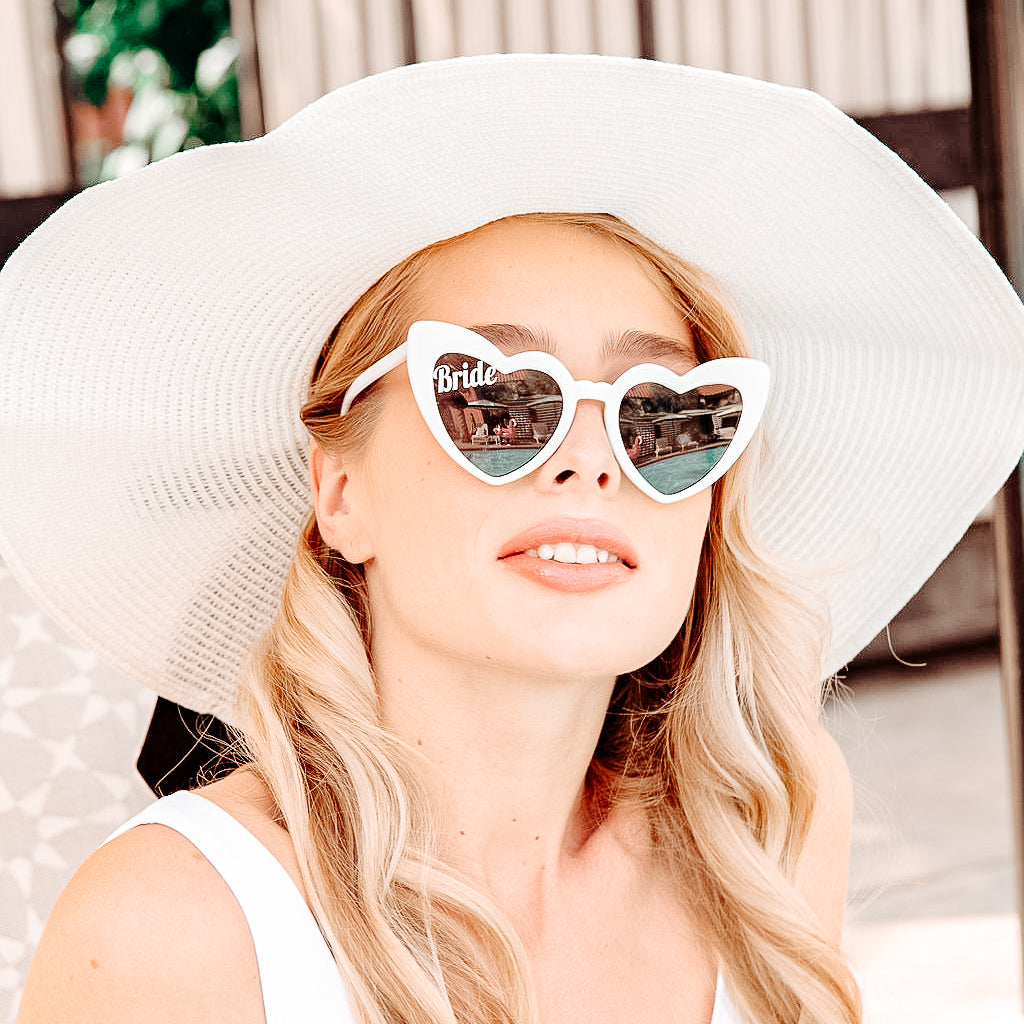 Retro BRIDE Heart Sunglasses