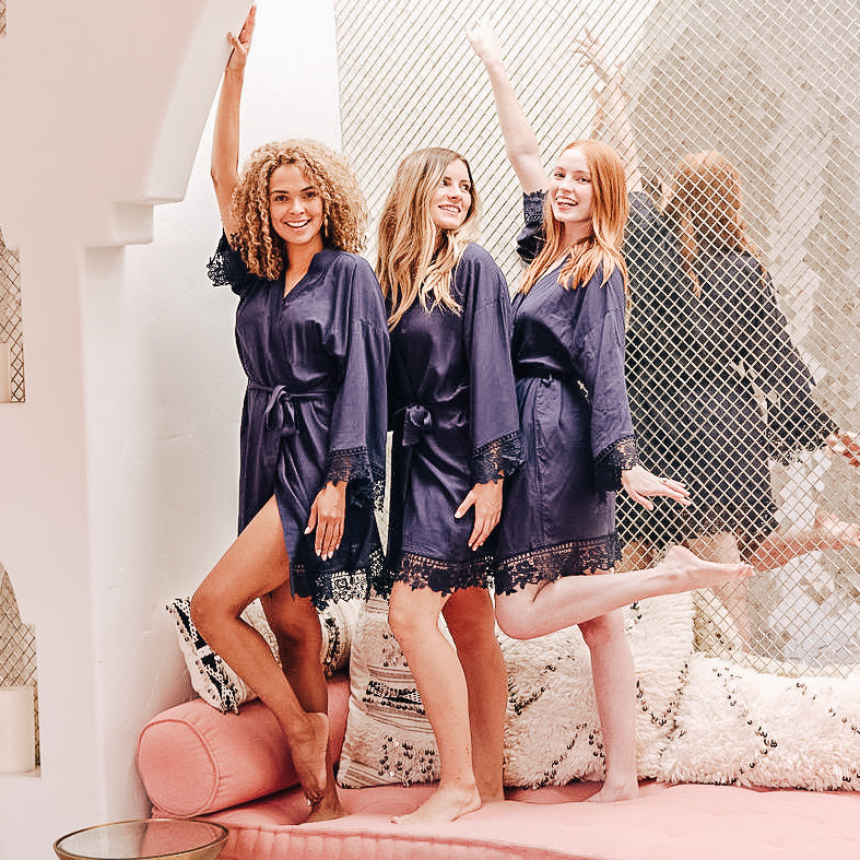 Navy Bridesmaid Robes