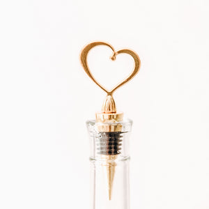 Gold Heart Bottle Stopper
