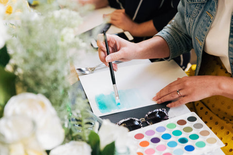 Watercolour workshop with HobbyCraft 9