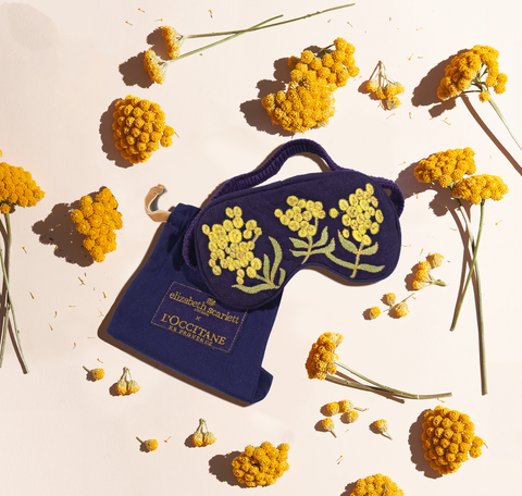 Immortelle flower paint Eye Mask