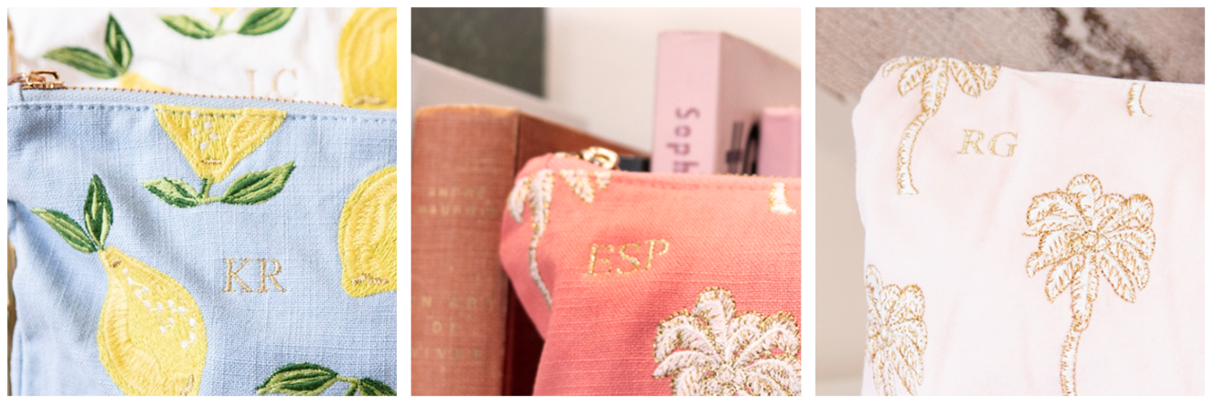 Custom Monogrammed Pouches & Gifts