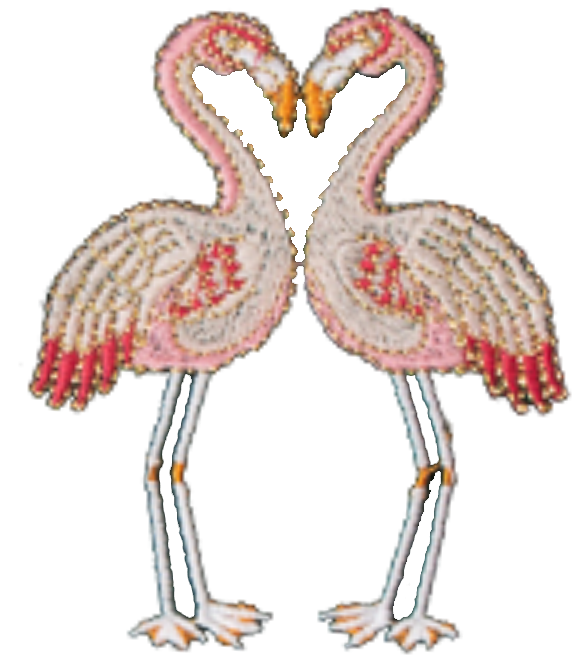 Flamingo Velvet Eye Mask