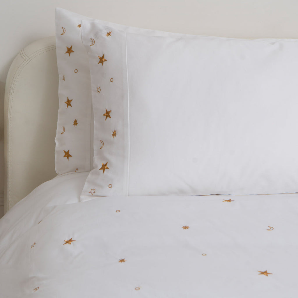 Soft Cotton Sateen Bed Linen Made Constellations Pillowcase: Elizabeth Scarlett 3