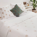 Luxury Soft Cotton Sateen Bedding Cushion Quilt 1