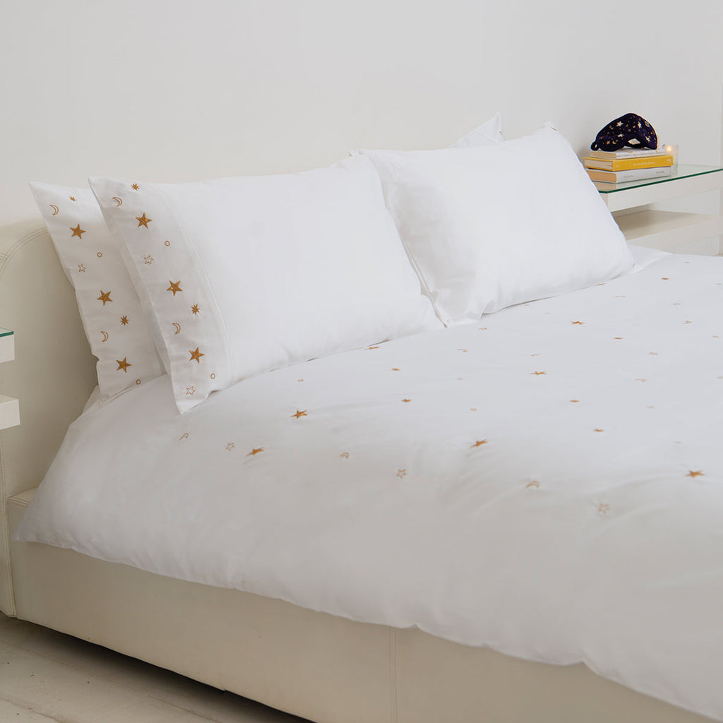 Soft Cotton Sateen Bed Linen Made Constellations Pillowcase: Elizabeth Scarlett 2