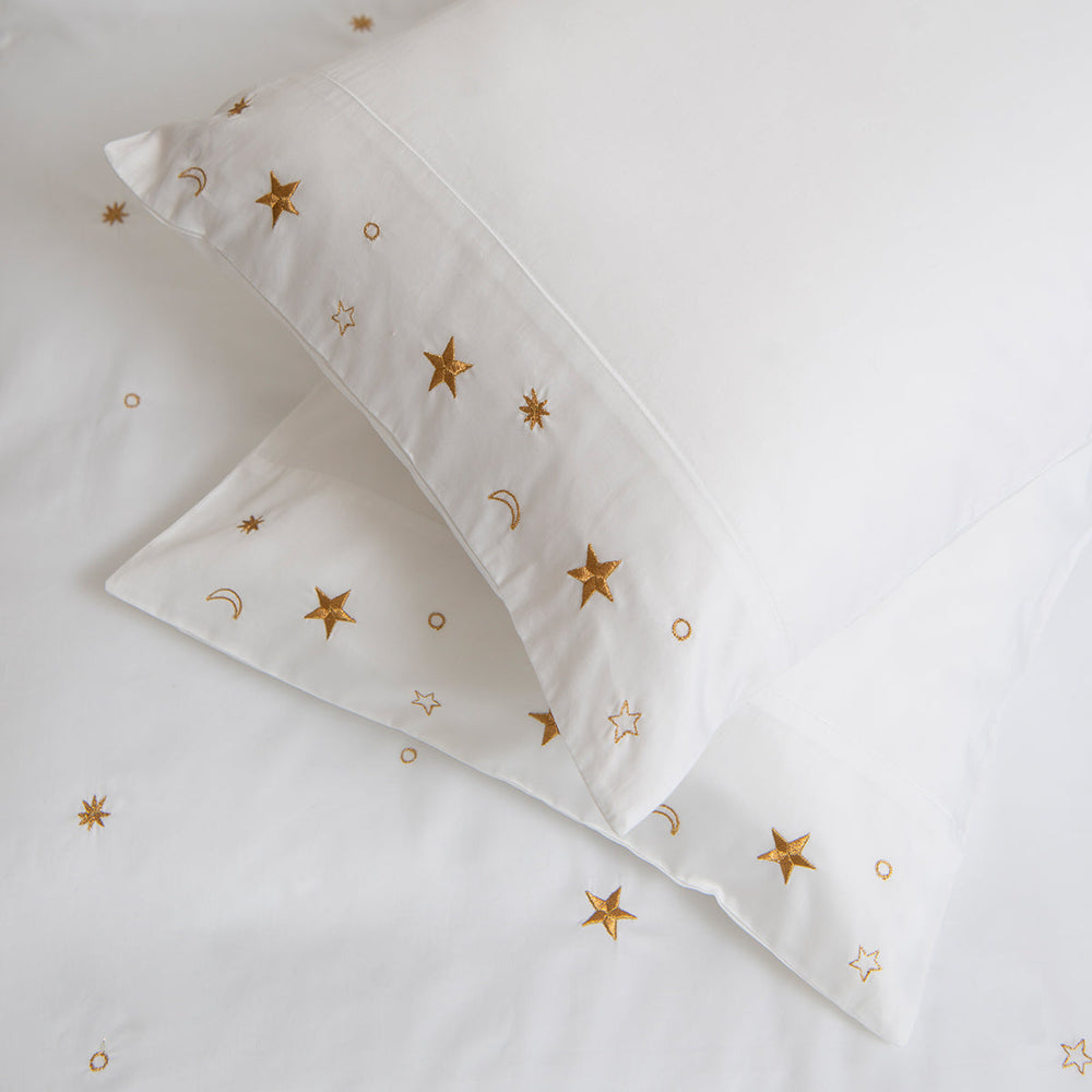 Soft Cotton Sateen Bed Linen Made Constellations Pillowcase: Elizabeth Scarlett 1