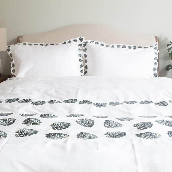 Jungle Leaf Duvet Cover | Elizabeth Scarlett