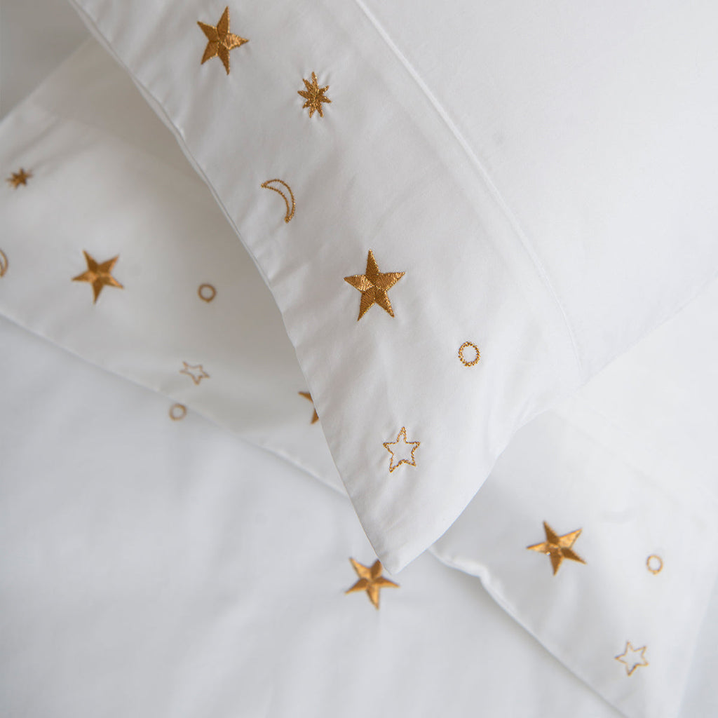 Soft Cotton Sateen Bed Linen Made Constellations Pillowcase: Elizabeth Scarlett 4