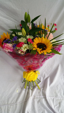 Hand Tied Sunflower Bouquet