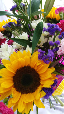Hand Tied Sunflower Bouquet (2)