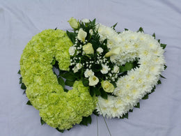 Double heart funeral tribute (2)