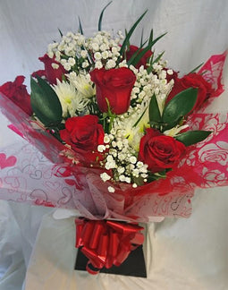Valentine's Large Aqua Box Bouquet (2)