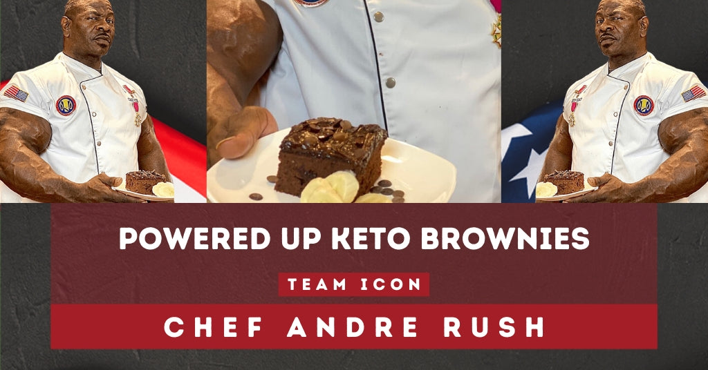 Chef Andre Rush's Powered Up KETO Brownies