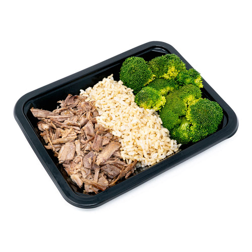 Brisket with Brown Rice & Broccoli