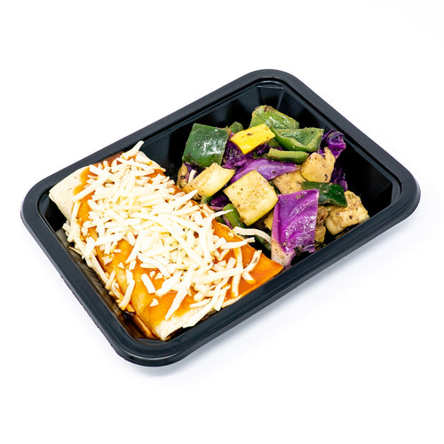 Brisket Enchiladas w/Purple Cabbage, Poblano Peppers & Squash