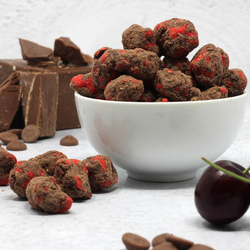 Dark Chocolate Covered Cherry Protein Popcorn