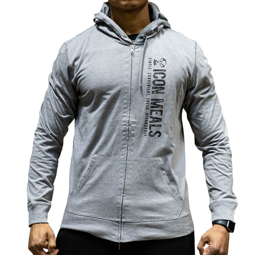 Gray Icon Zip Up