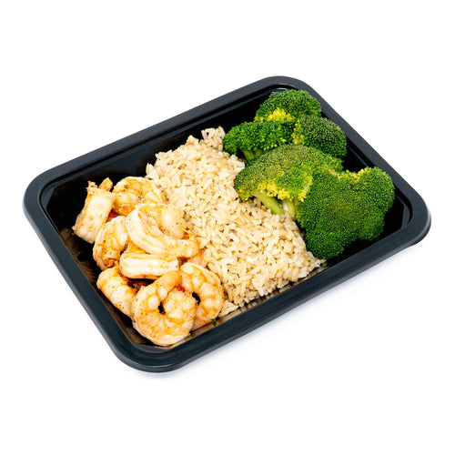 Shrimp with Brown Rice & Broccoli