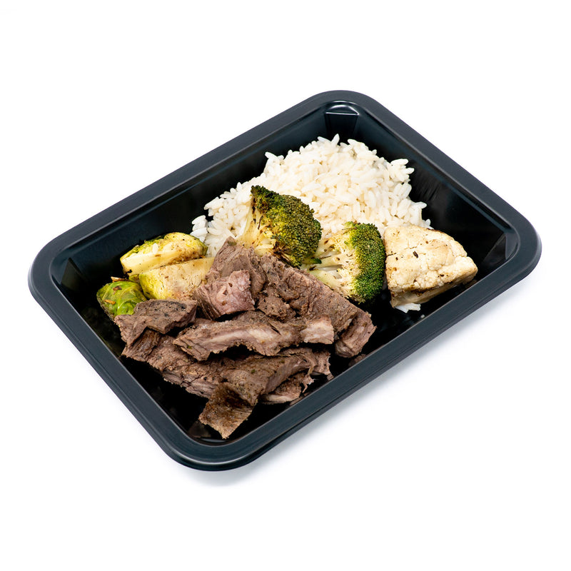 Seared Steak, Rice & Veggie Mix