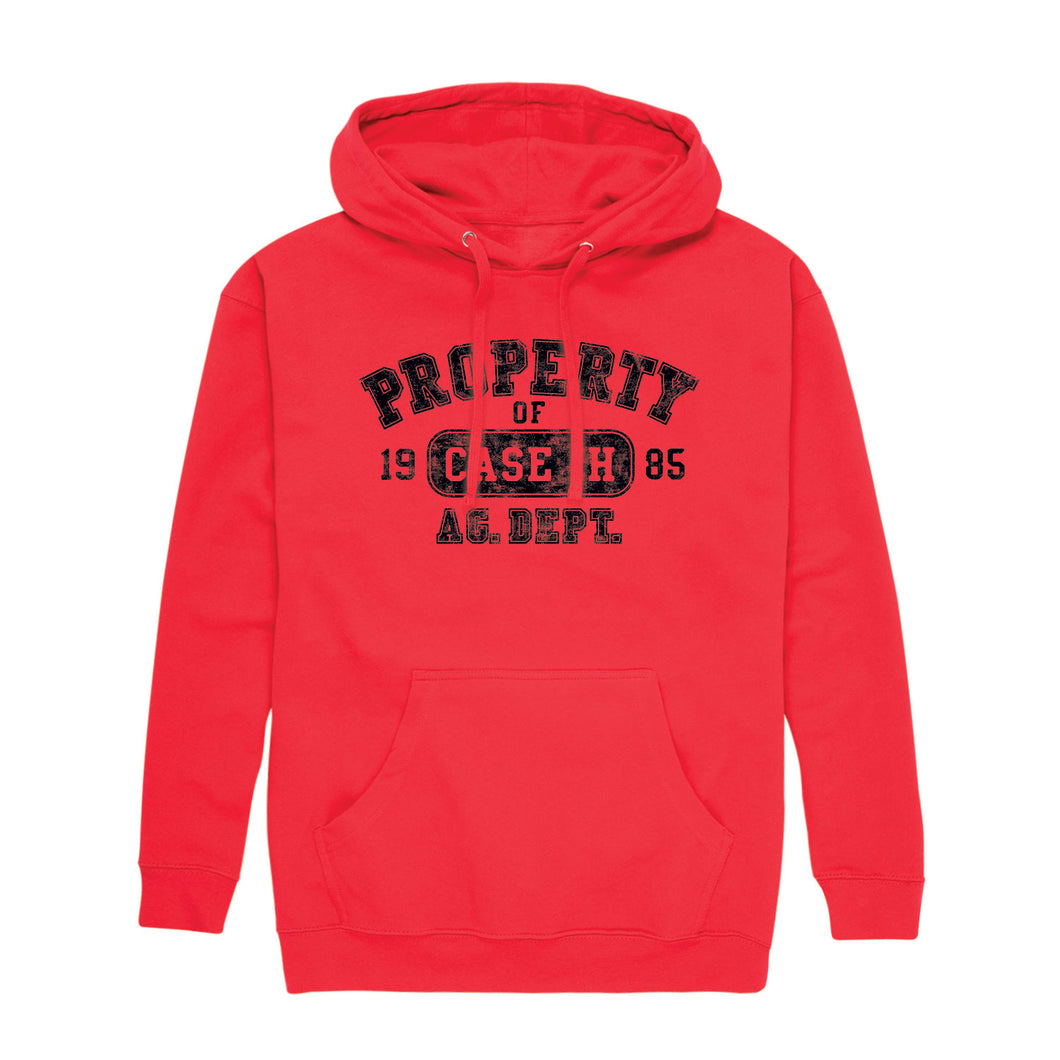 Property of Case IH Distress - Adult Pullover Hood