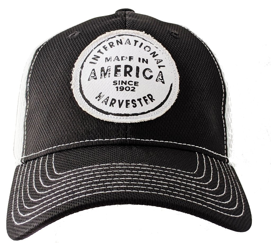 Men's IH Black & White Two-Tone Flex Fit Cap with Patch