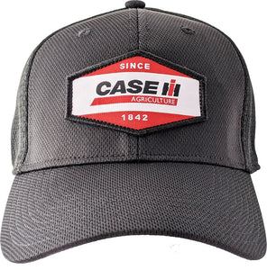 Men's Flex Fit Case IH Black Cap with Printed Patch